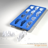 ice tray cars 3d model