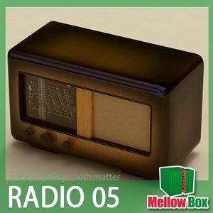 old radio poem 3d model