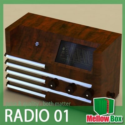 3d model old radio admiral