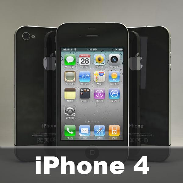 iphone4 iphone 3d model