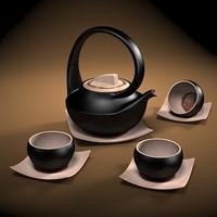 japan tea set 3d max