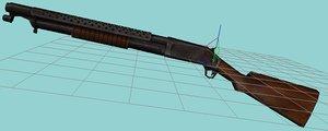 3d 3ds winchester m-97 shotgun