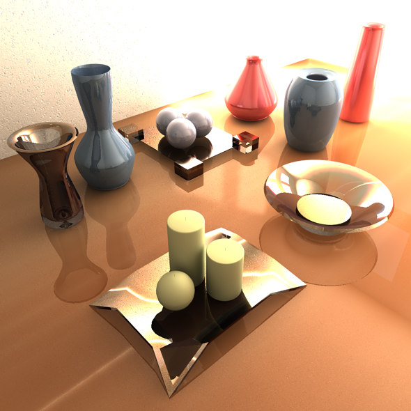 10 decorative vases candles 3ds