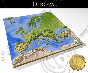 relief europe 3d max
