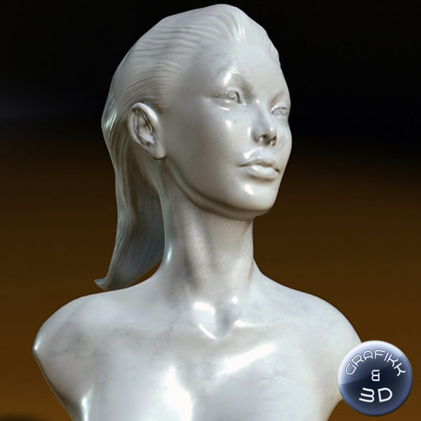3d sculpture woman model