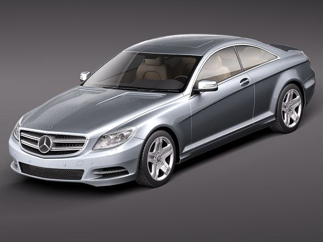 mercedes cl 2011 luxury 3d 3ds