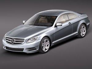 mercedes cl 2011 luxury 3d 3ds