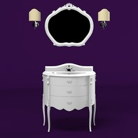 mobilidicastello mobili di castello Rembrandt  classic bathroom washing  sink furniture vanity tap mirror wall lamp sconce  set