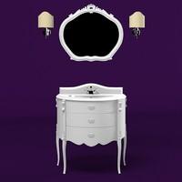 mobilidicastello mobili di castello Rembrandt  classic bathroom washing  sink furniture vanity tap mirror wall lamp sconce  set