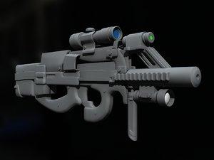 custom p90 3d model