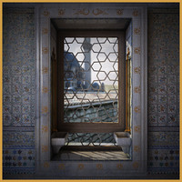 ottoman palace window 3d model