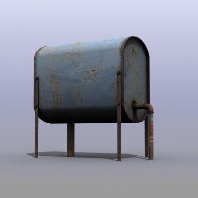 3d model low-poly tank