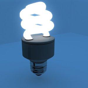 3d cfl light bulb model