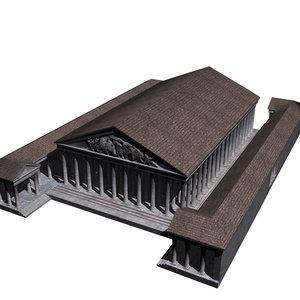 temple roma venus 3d obj