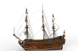 ship san felipe 3d model