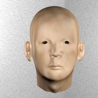 head realistic photo 3ds
