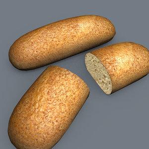 bran bread 3d model
