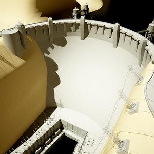 dam hydroelectric electric 3d model