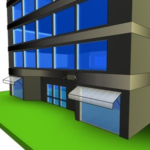 office building simple 3d 3ds