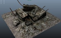 rubble 3d obj