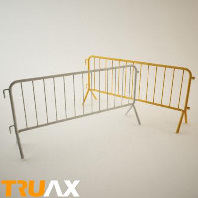 metal barrier truax 3d model
