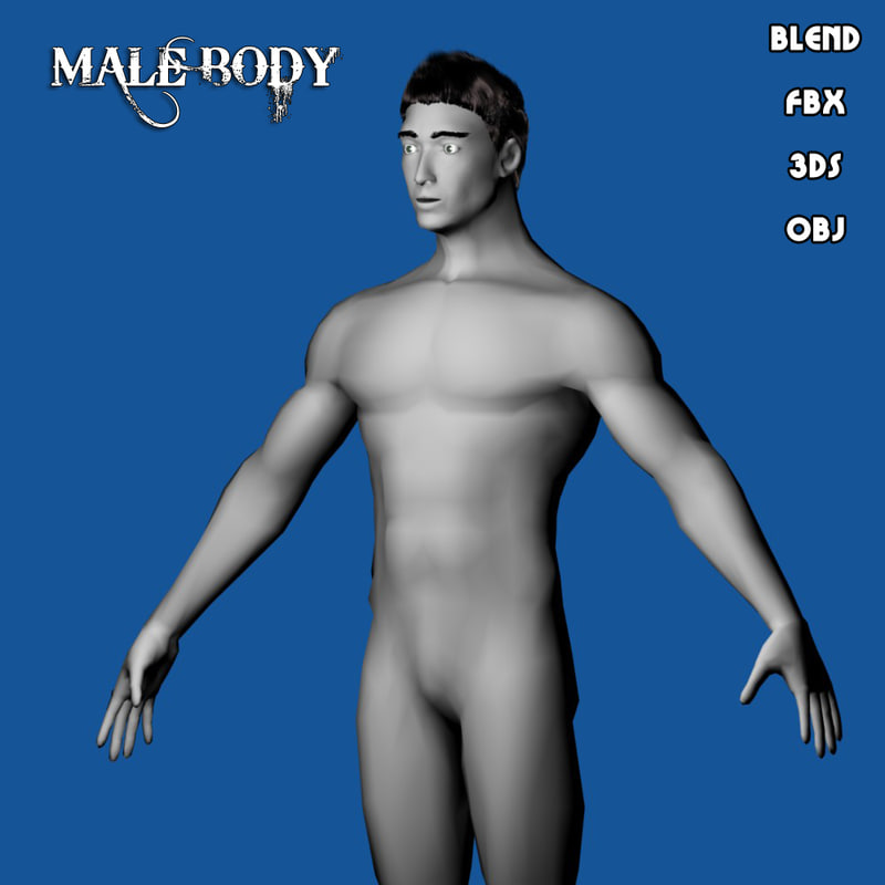base human male body 3d model