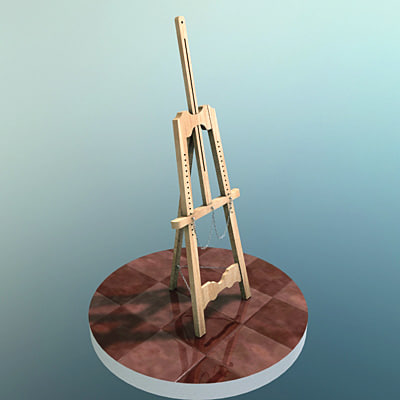 3ds max easel caballete