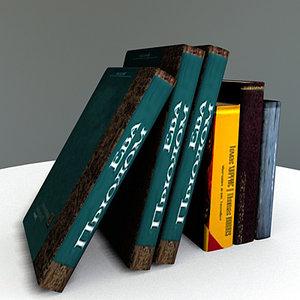 set books modeled pack 3d model