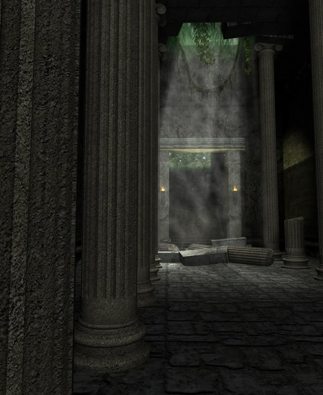 crypt underground 3d model