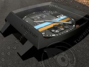 3d model tag heuer monaco concept