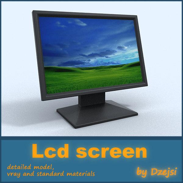 lcd monitor 3d model