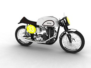 3d norton manx 1954