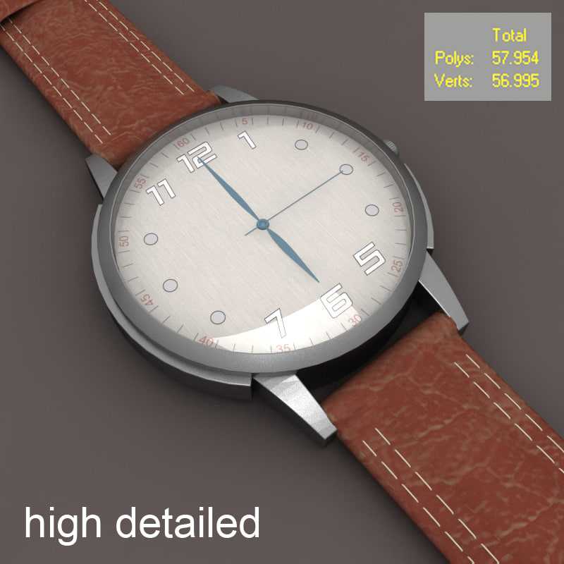 watch modeled 3d model