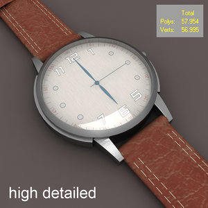 watch modeled 3d model