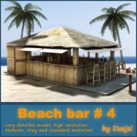 3d beach bar model