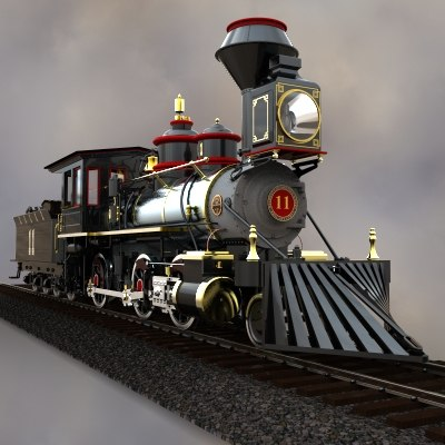 locomotive baldwin 2-6-0 freight 3d model