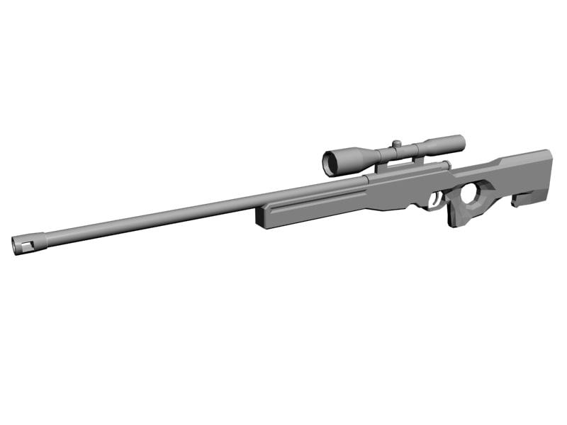 awm rifle 3d model