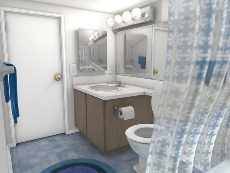 3ds max apartment bathroom sink