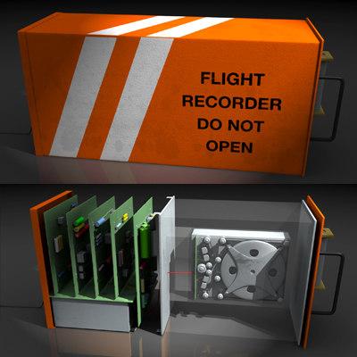 flight recorder black box 3d obj