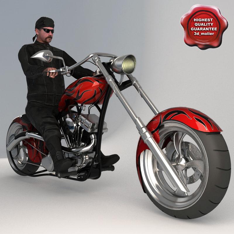 custom chopper bike biker max