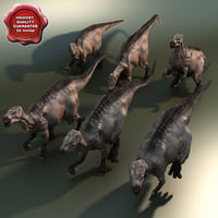 Dinosaur Iguanodon Poses Collection