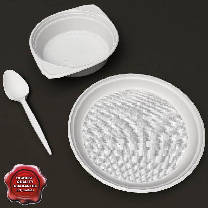 disposable plates 3d model