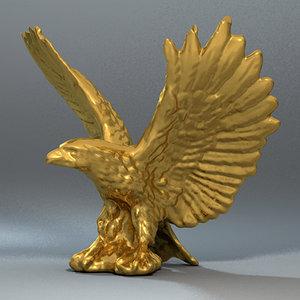 eagle statue 3d model