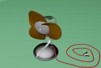 3d model fan animation