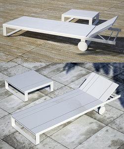 flat sun lounger 3d 3ds
