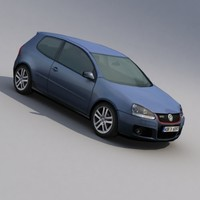 volkswagen golf v gti 3d model