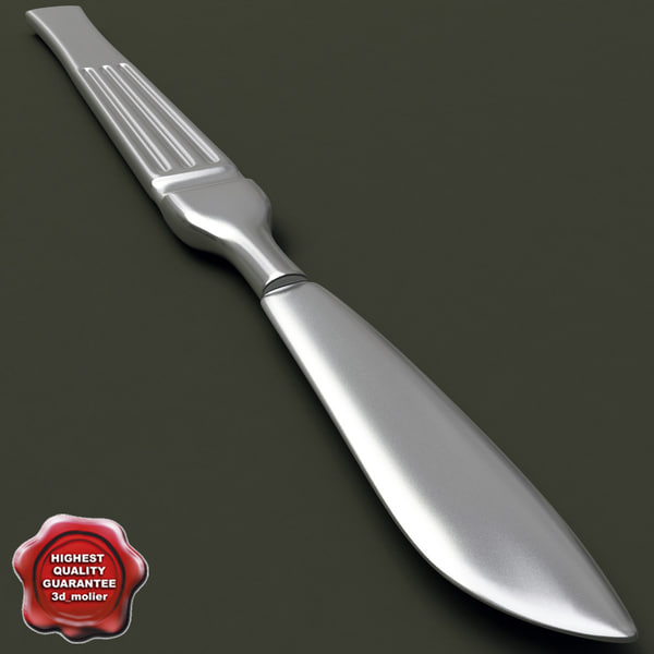 medical instrument scalpel 3d model
