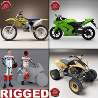 motorcycles v2 3d 3ds