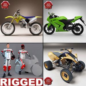 motorcycles v2 3d 3ds