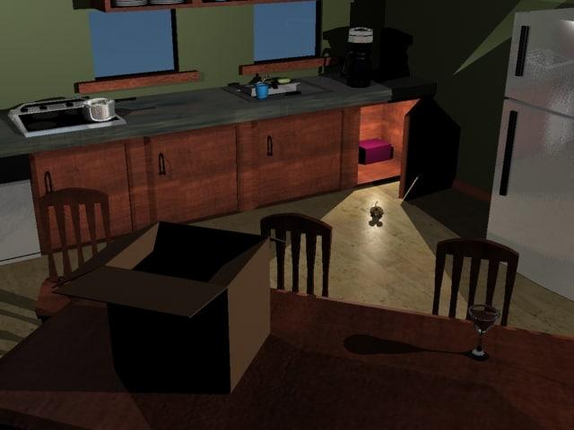 3d kitchen mouse model